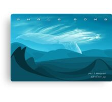 Whale Song part 3 Canvas Print