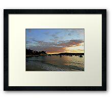 Sunset, Manly, Sydney, NSW, Australia Framed Print