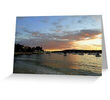 Sunset, Manly, Sydney, NSW, Australia Greeting Card