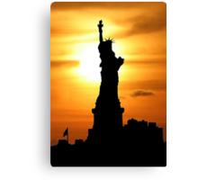 Liberty at sunset Canvas Print