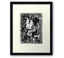 Gray Abstract Composition Framed Print
