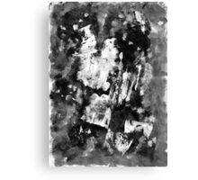 Gray Abstract Composition Canvas Print