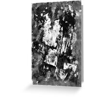 Gray Abstract Composition Greeting Card