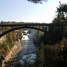 Arch Bridge over Ausable Chasm by ValeriesGallery
