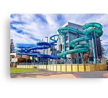 Water Slide Fun Park! Canvas Print
