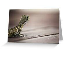 Thoughtful dragon Greeting Card