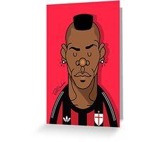 Balotelli AC Milan Greeting Card