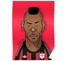 Balotelli AC Milan Poster