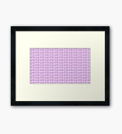 Brazilian Jiu Jitsu Purple  Framed Print