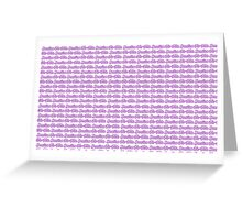 Brazilian Jiu Jitsu Purple  Greeting Card