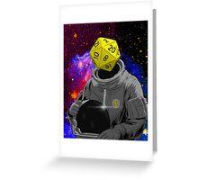 d20 Astronaut Greeting Card