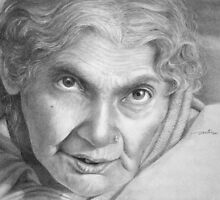 Wisdom -Portrait of an Elderly Woman by Arti Chauhan