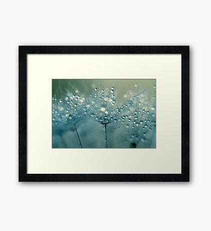 Shower Blue Framed Print