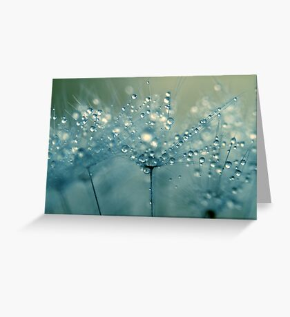 Shower Blue Greeting Card