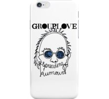 GROUPLOVE Spreading Rumours BLUE iPhone Case/Skin