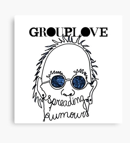 GROUPLOVE Spreading Rumours BLUE Canvas Print