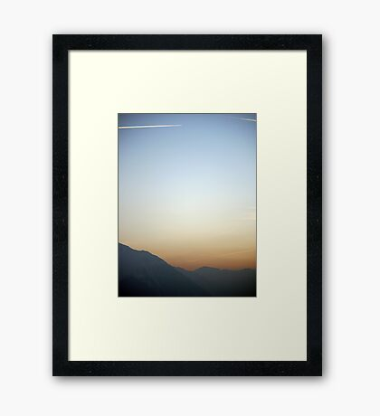 Swiss Alps Sunset Framed Print