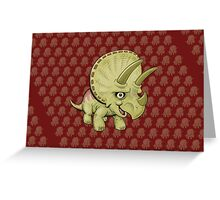 Cute Triceratops Greeting Card