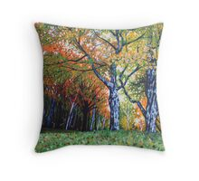 'Autumn Trees Along Bass Lake'  Throw Pillow