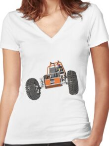 Dune buggy Women's Fitted V-Neck T-Shirt