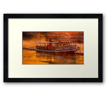 Dawn on Stockholm Harbour Framed Print