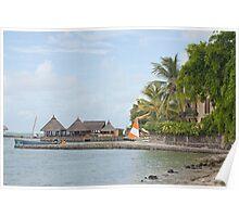 Tourist resort in Mauritius Poster