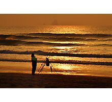 Waiting for a Fish, Perranporth, Cornwall Photographic Print