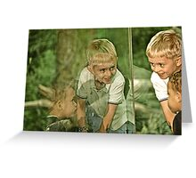 """1) """"The World is What You Think It Is"""" Greeting Card"""