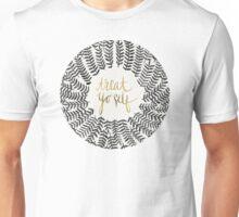 Treat Yo Self – Black & Gold Unisex T-Shirt