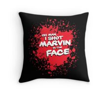 IN THE FACE !!! Throw Pillow