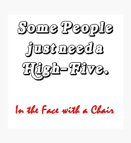 High Five Photographic Print