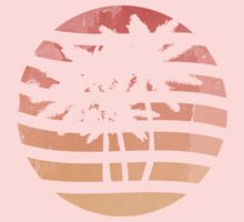Palm Trees Grunge Sunset Kids Clothes