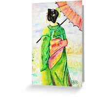 """ Fertility"" kimono Girls series 09 Greeting Card"