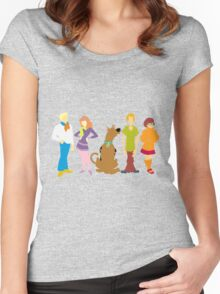 Scooby Doo Gang Women's Fitted Scoop T-Shirt