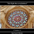 Stained Glass Window at St. Joseph's Cathedral by Rose Santuci-Sofranko