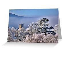 Hoar Frost, Cheltenham, England Greeting Card