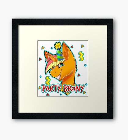 PARTY BRONY - MLP by CCwolfie Framed Print