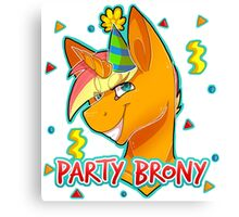 PARTY BRONY - MLP by CCwolfie Canvas Print