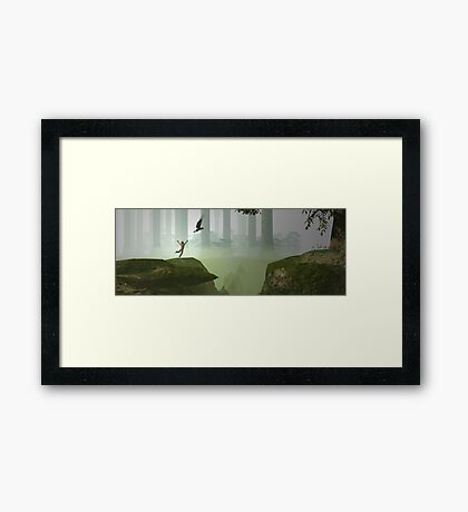 If I could fly Framed Print