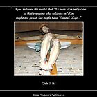 Crucifix - Jesus Christ on the Cross (John 3: 16) by Rose Santuci-Sofranko