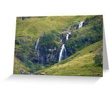 Glencoe Waterfall Greeting Card