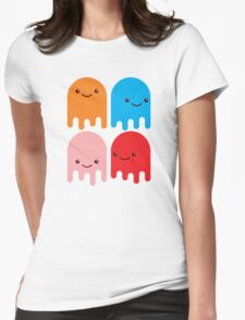 Friendly Ghosts Womens Fitted T-Shirt