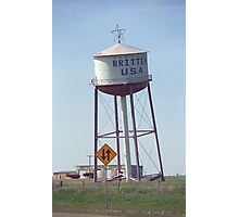 Route 66 - Leaning Water Tower Photographic Print