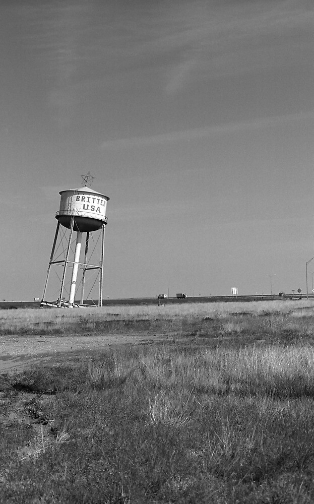 Route 66 - Leaning Water Tower by Frank Romeo