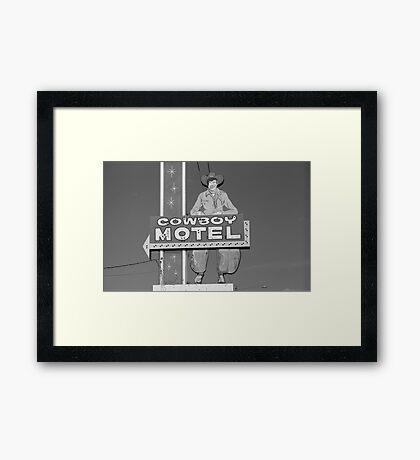 Route 66 - Cowboy Motel Framed Print