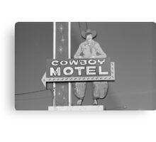 Route 66 - Cowboy Motel Metal Print