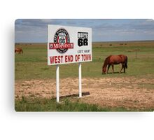 Route 66 - Adrian, Texas Canvas Print