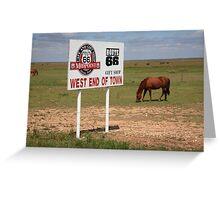 Route 66 - Adrian, Texas Greeting Card