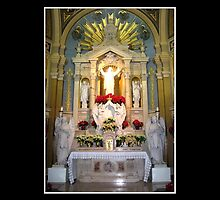 Sacred Heart of Jesus Altar at Christmas by Rose Santuci-Sofranko