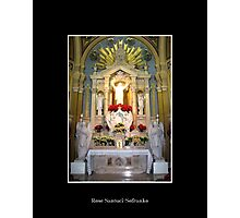 Sacred Heart of Jesus Altar at Christmas Photographic Print